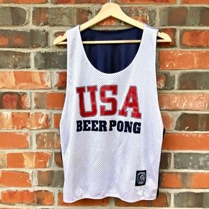 Tribe Head USA Beer Pong Tank Top Shirt Forth July